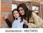 portrait of mother and daughter ... | Shutterstock . vector #48273091