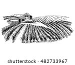 hand drawn vector rural... | Shutterstock .eps vector #482733967