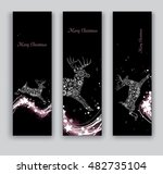 christmas banners or bookmarks. ... | Shutterstock .eps vector #482735104