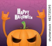 happy halloween vector creative ... | Shutterstock .eps vector #482735395