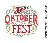 oktoberfest logotype. beer... | Shutterstock .eps vector #482735434