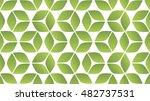 green seamless abstract 3d...   Shutterstock .eps vector #482737531