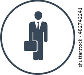 businessman with a case | Shutterstock .eps vector #482742241