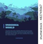 undersea world illustration... | Shutterstock .eps vector #482745067