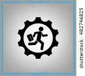 man and gear icon vector... | Shutterstock .eps vector #482746825