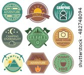 camping colored emblems in soft ...   Shutterstock .eps vector #482748094
