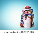 white straw basket full of... | Shutterstock . vector #482751709