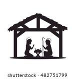 silhouette manger merry...   Shutterstock .eps vector #482751799