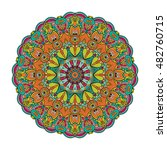 mandala vector for art ... | Shutterstock .eps vector #482760715