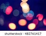 night city street lights bokeh... | Shutterstock . vector #482761417