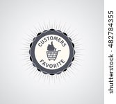 customers favorite promo badge. | Shutterstock .eps vector #482784355