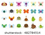 set of insects on white... | Shutterstock .eps vector #482784514