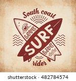 red vector crossing surfing...   Shutterstock .eps vector #482784574