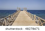 The typical boardwalk at the red sea in Egypt - stock photo