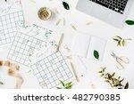 wedding planner schedule... | Shutterstock . vector #482790385