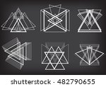 triangles logo design. vector... | Shutterstock .eps vector #482790655