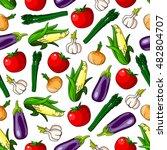 ripe vegetables seamless... | Shutterstock .eps vector #482804707