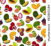 fresh and sweet tropical fruits ... | Shutterstock .eps vector #482805184