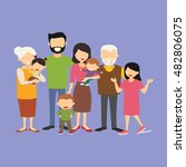 big family together. vector... | Shutterstock .eps vector #482806075