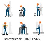 vector illustration of a six... | Shutterstock .eps vector #482812399