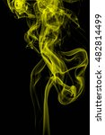 Small photo of Abstract art. Yellow smoke hookah background. Inhalation. The steam generator. The concept of poison gas.