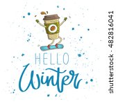 quote hello winter. the trend... | Shutterstock .eps vector #482816041