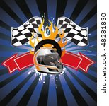 racing sign on the ray... | Shutterstock .eps vector #48281830