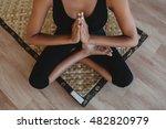two beautiful young woman... | Shutterstock . vector #482820979