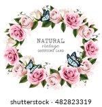 natural vintage greeting frame... | Shutterstock .eps vector #482823319