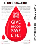 blood donation poster vector... | Shutterstock .eps vector #482823349