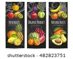 fresh natural fruits banners.... | Shutterstock .eps vector #482823751
