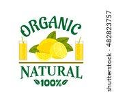 natural organic lemon fruit... | Shutterstock .eps vector #482823757
