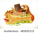 happy thanksgiving. invitation. ... | Shutterstock .eps vector #482835115
