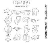 outline future icons set....