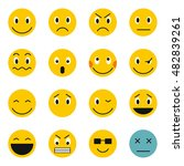 flat emoticon icons set.... | Shutterstock . vector #482839261