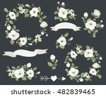 wedding graphic set with... | Shutterstock .eps vector #482839465