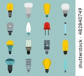 flat light bulb icons set....