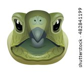 Vector Turtle Face Wild Animal...