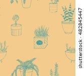 hand drawn textured seamless...   Shutterstock .eps vector #482845447