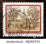 austria   circa 1984  a stamp ... | Shutterstock . vector #48285574