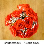 beautiful bouquet of roses on a ...   Shutterstock . vector #482855821