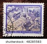 austria   circa 1987  a stamp ...   Shutterstock . vector #48285583
