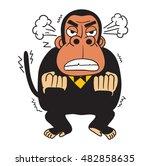 mad monkey vector