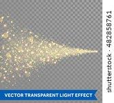 vector golden sparkling falling ... | Shutterstock .eps vector #482858761