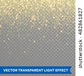 Vector Gold Glitter Particles...