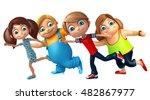 3d rendered illustration of kid ... | Shutterstock . vector #482867977