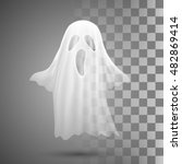 ghosts on transparent... | Shutterstock .eps vector #482869414