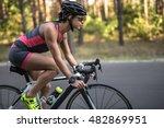 Pretty Sportive Girl Rides A...