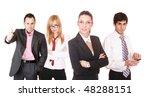 an attractive  business team...   Shutterstock . vector #48288151