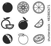 orange vector icons. simple... | Shutterstock .eps vector #482882671
